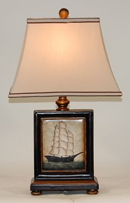 Set of 2 Ship at Sea Table Lamps