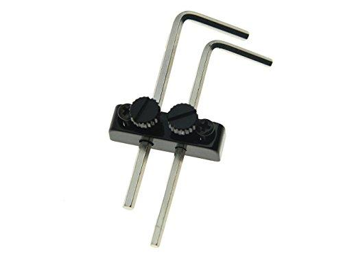 Dopro Black Guitar Bass Allen Wrench/Key Headstock Wrench Holder for Floyd Rose Tremolo Guitar