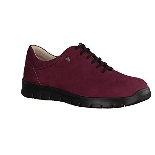 Zapatos para Rojo Vino de de Rojo Mujer Cordones Finncomfort Cuero FqdAFw