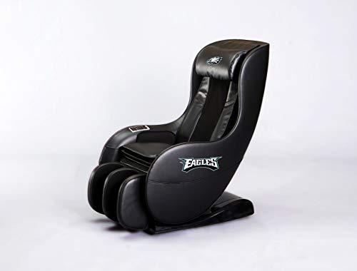 NFL Electric Full Body Shiatsu Massage Chair Foot Roller Zero Gravity Wheat (Philadelphia Eagles)