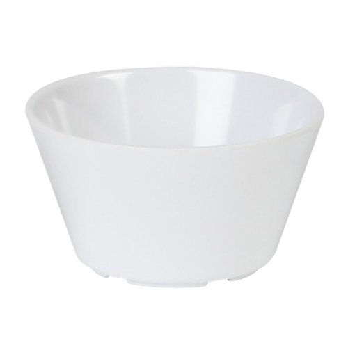 Excellanté Milan Melamine White Collection 3.875-Inch 8-Ounce Bouillon Cup, White, 12-Piece