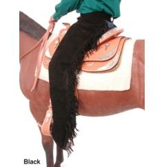 Solid Black Western Chaps (Chaps Horse)