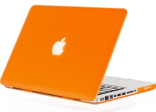 Kuzy Plastic Case for Older MacBook Pro 13.3 (Model: A1278) Aluminum Unibody Ultra Slim Rubberized Matte Cover - ORANGE