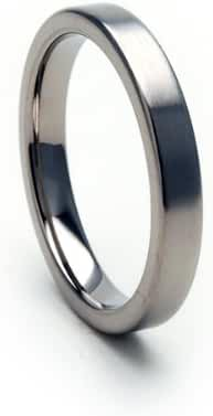 3mm Titanium Ring Comfort Fit Band 100's of Sizes & Styles Available
