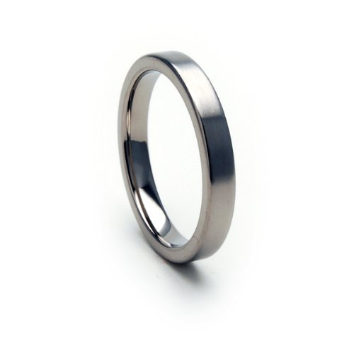 3mm Titanium Ring Comfort Fit Band 100's of Sizes & Styles Available by The Jewelry Source