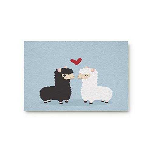 Meet 1998 Cute Cuple Sheeps Funny Door Mats Rug,Floor Mats Front Doormats Non-Slip Bedroom Carpet Home Kitchen Rug 20x31.5inch -