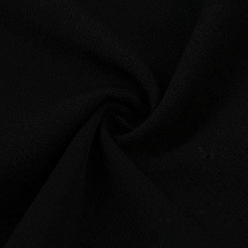 Bateau Manche Uni Jeune Blouse Et Encolure Nu Tops Mode Haut Vetement B Basic sans Femme Elgante paules schwarz Nues Mode Plier Chemise Casual Dos Manches Blouse 8xnwq7FP