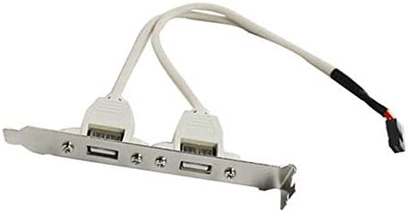 Cable Length: As Shows Cables Motherboard USB 2.0 Cable Adapter Rear Panel Bracket LCC77