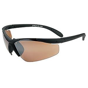 JiMarti JM01 Sunglasses for Golf, Fishing, Cycling-Unbreakable-TR90 Frame (Flat Black & Copper)