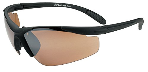 - JiMarti JM01 Sunglasses for Golf, Fishing, Cycling-Unbreakable-TR90 Frame (Flat Black & Copper)
