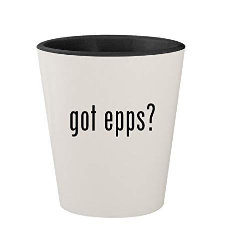 got epps? - Ceramic White Outer & Black Inner 1.5oz Shot Glass