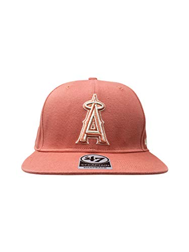 '47 Los Angeles Angels Brand Captain Island Snapback Hat Adjustable MLB Cap Straight Brim (One Size, SAL) ()