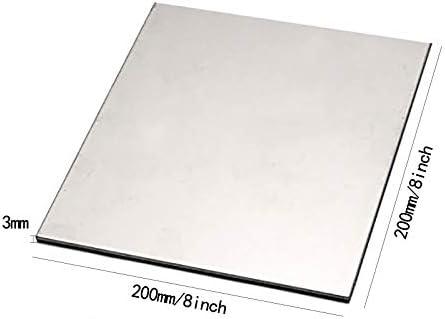 SQINAA Titanium Sheet TC4 5x200x200mm Metal Titanium Plate for Aerospace Industrial Processes Automotive DIY,200x200x3mm