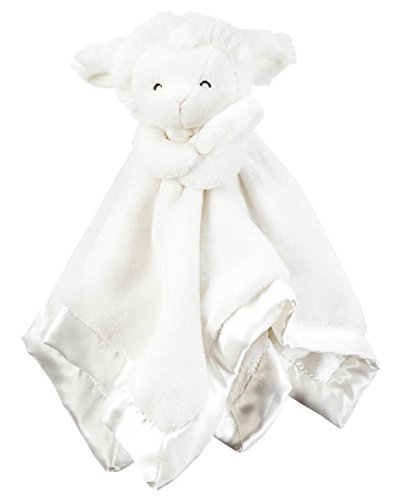 Carters White Snuggle Security Blanket