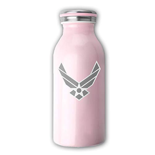 Adhone Double Wall Stainless Steel Vacuum Insulation Air Force Insignia - Gray Water Cup for Home & Outdoor, Pink