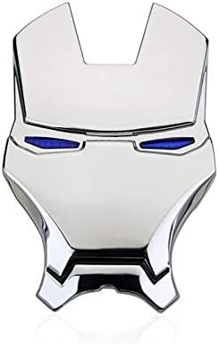 3d Iron Man Avengers Metall Auto Logo Modifiziertes Auto Aufkleber 64 Cm Metall Auto Aufkleber Aufkleber Farbe Silber Küche Haushalt