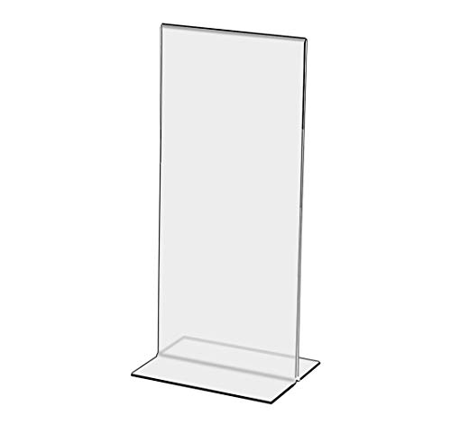 Marketing Holders Literature Flyer Poster Frame Letter Notice Menu Pricing Deli Table Tent Countertop Expo Event Sign Holder Display Stand Double Sided Bottom Loading 4