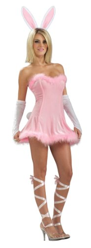 Secret Wishes Women's Honey Bunny Adult Costume, Pink, X-Small
