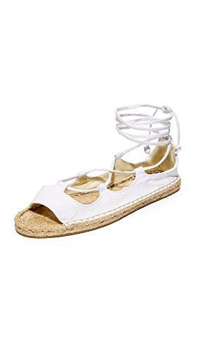 Soludos Women's Biarritz Gladiator Sandal, White, 9.5 B US