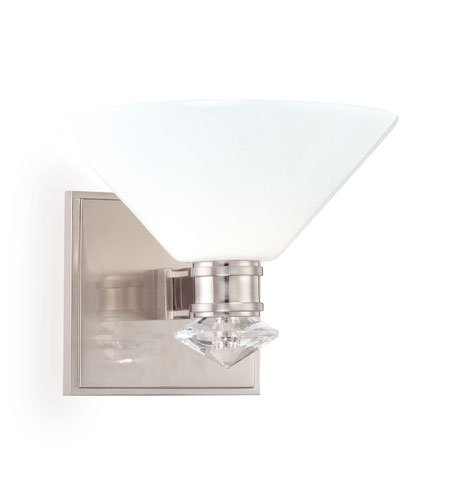 Hudson Valley 3251-SN, Rawlins Torchiere Glass Wall Sconce Lighting, 1 Light, 75 Watts Xenon, Nickel