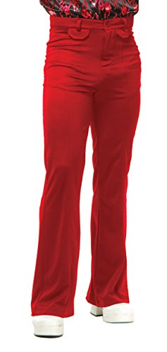 Charades Men's Disco Pants, red, -