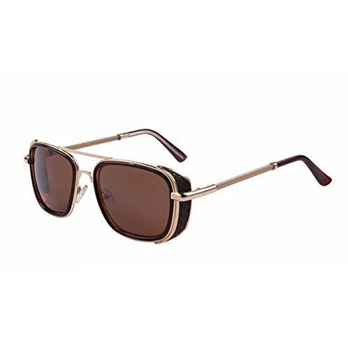 Men Steampunk Sunglasses Women Classic Brand Designer Sunglasses Double-Bridge Shades - Customizable Cheap Sunglasses