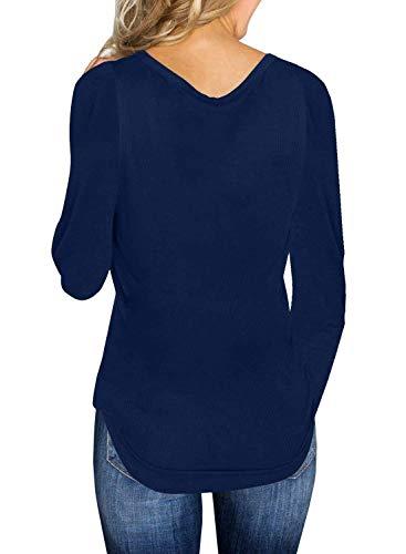 V Thin Blouse Sweatshirt Femmes Basique ASSKDAN Sweater Manches Longue vqwZ1x8