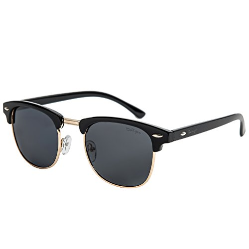Dollger Mens Polarized Sunglasses Half Frame Retro Sunglasses for - Mujer Lentes De
