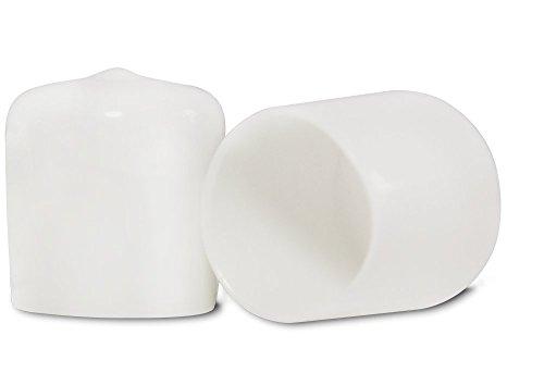 (Prescott Plastics 3/8 Inch White Round Vinyl Rubber Cap, FDA Food Grade, Flexible Pipe Post Cover (10))