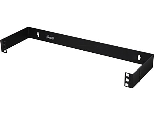 Rosewill 1U 19 Inch Steel Wall Mount Hinged Server Bracket with 6 Inches Deep and Hinge Design for Easy Asscess for Network Switches and Routers (Back Office Small Business Server)