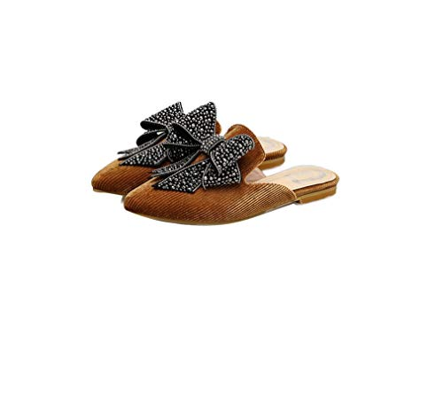 Slackers Pointues Femme Brown Et Chaussures Chaussures YUCH FXxnqwB5Px