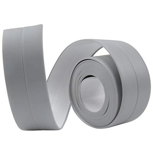 Waterproof Mildew Tape Moisture Proof for Toilet Gap Bathroom Shower Crack Wall Trimmer Protection Caulking Sealant Tool - Gray -