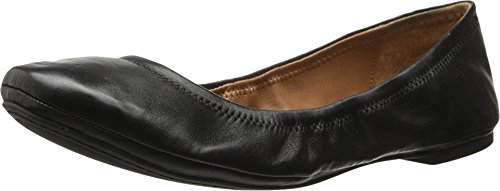Lucky Brand Womens Emmie Ballet Flat  Black Leather  11 M Us
