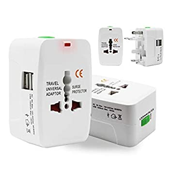 FK Mart Universal Travel Adapter with Built in Dual USB...
