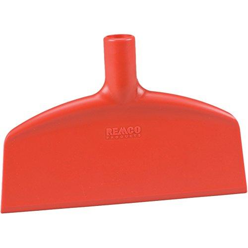 Remco 29114 Red Beveled Nylon Blade Stiff Floor Scraper, 6.75'' L x 10.25'' W