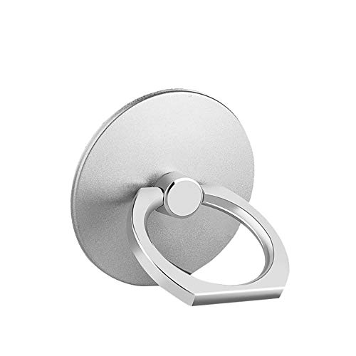 Lljin 1 Pcs Metal Ring Stand Universal Applied Mobile Phone Stand 360 Degree Rotate Sliver