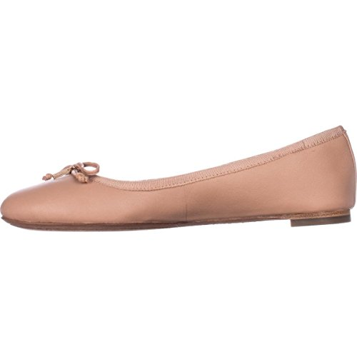 Coach Ballet Shoes (Coach Womens Flatiron Closed Toe Ballet Flats, Tan/Shell, Size 5.5)