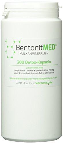 Bentonit Med 200 Detox-Kapseln für 33 Tage