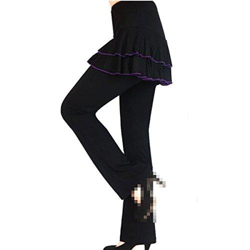 Mujeres Verano De Gran Tamaño Flojo Buen Ajuste Flex El Baile El Basculador Medias Pantalones De Entrenamiento De Fitness De Yoga 06