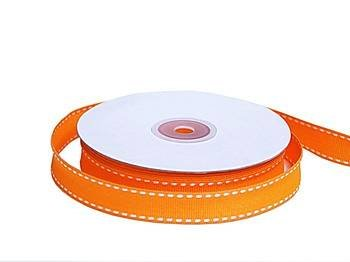 "Tableclothsfactory 5/8"" Grosgrain Ribbon with Stitched Edges-Orange"