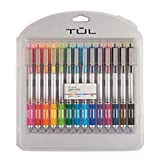 TUL Retractable Gel Pens, Bullet Point, 0.7 mm, Gray Barrel, Assorted Standard and Bright Ink Colors, Pack of 14