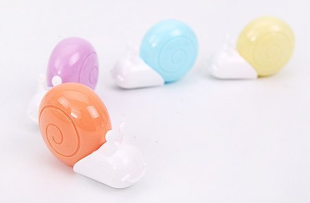 M/&G Cute snail Correction Tape,1//5 x 236 Inches,Non-Refillable,4-Pack