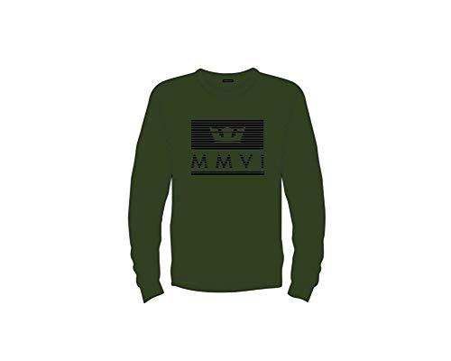 Olive Jewel - Supra Men's Crown Jewel Long Sleeve Sweatshirt, Olive/Black - Large