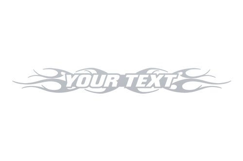 Sticky Creations - Design #108 Your Custom Text Personalized Customized Lettering Tribal Flame Windshield Decal Sticker Vinyl Graphic Window Banner Car Truck SUV Boat | 36