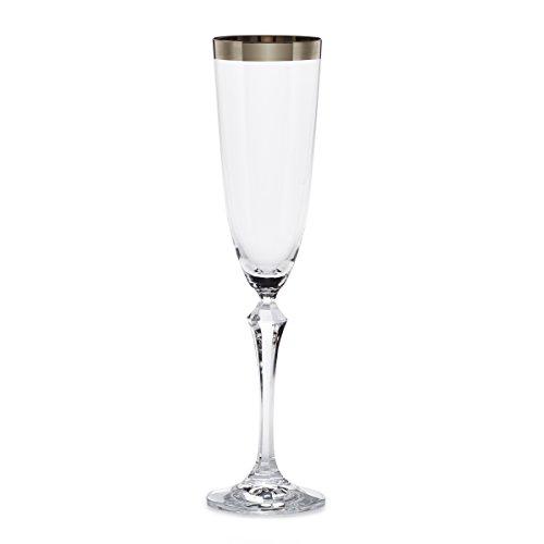 Mikasa Serenity Platinum Champagne Flute, (Platinum Champagne Flute)