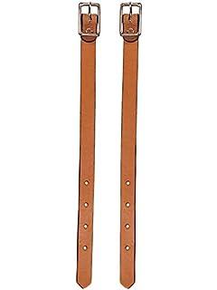 pair Weaver Flared Fender Hobbles stirrups Skirting Leather