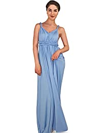 4Now Fashions Long Infinity Periwinkle Bridesmaid Dress Dress Convertible Multiway