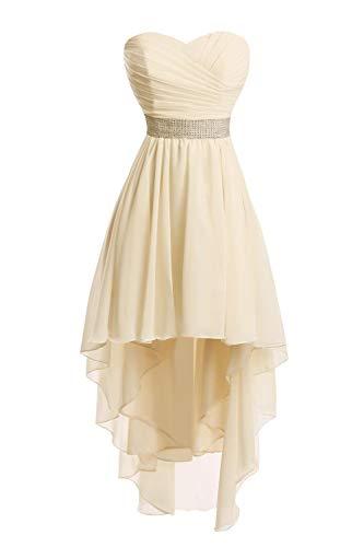 Chiffon Ballkleider Partykleid Champagner Hochzeitskleider JAEDEN Abendkleider Brautjungfernkleider PAtZ6z
