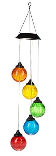 Ganz Solar Light Up Five Color Ball Hanging Lights ()