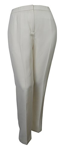 Evan Picone Women's City Chic Textured Three Button Pant Suit (8, Ivory) by Evan Picone (Image #3)'